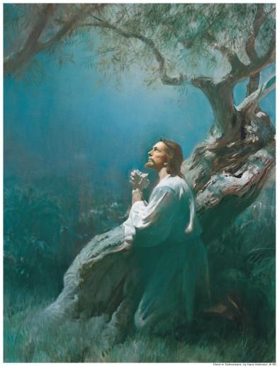 Getsemane Jezus bidt 2
